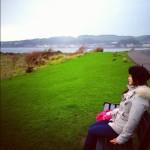 きれいな空気、美しい緑、この景色を絶対わすれない。