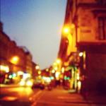 街もだんだん暗くなってきました。